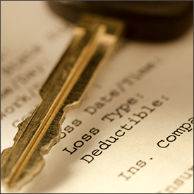 Car key and insurance form