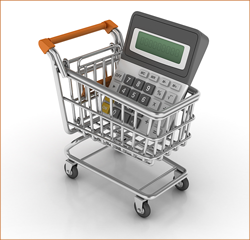 Shopping cart and calculator