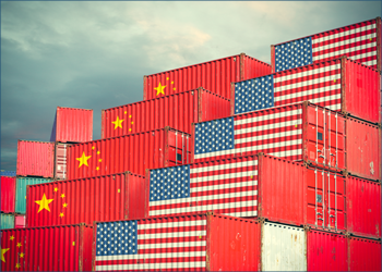 US and Chinese shipping containers